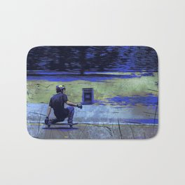Just Cruisin'  - Skateboarder Bath Mat