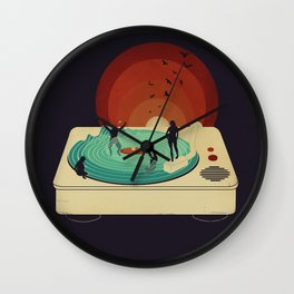 Soundwaves Wall Clock