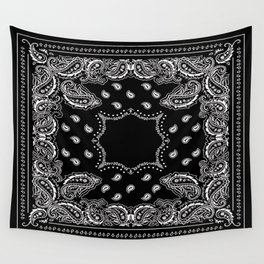 Bandana Black & White Wall Tapestry