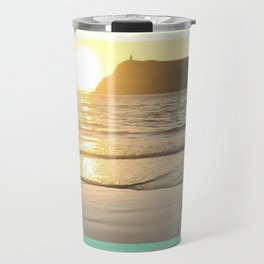 Port Erin - color graphic Travel Mug