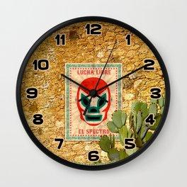 El Spectro - Lucha Libre Wall Clock