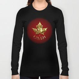 Gold Canada Souvenir Long Sleeve T-shirt