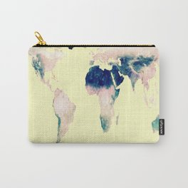 World Map : Gall Peters Pastel Carry-All Pouch