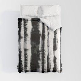 Tie-Dye Shibori Stripe BW Comforters