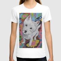 westie T-shirts featuring Pop Art Westie Named Poppy by Karren Garces Pet Art