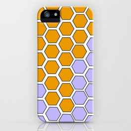 Lavender Honeycomb iPhone Case