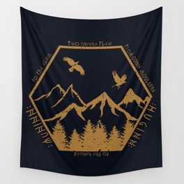 Two ravens flew Wall Tapestry