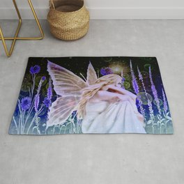 Purple Herbs in the Cosmos Rug