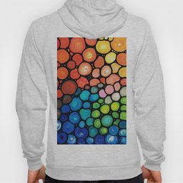 River's Edge - Colorful Mosaic abstract by Labor of Love artist Sharon Cummings. Hoody
