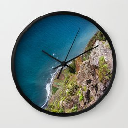 Madeira -view from cliff Wall Clock
