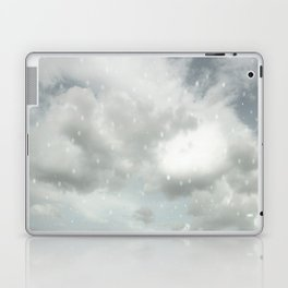 Snowing Winter Scene Illustration #decor #society6 Laptop & iPad Skin