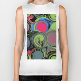 Paint can swirls Biker Tank