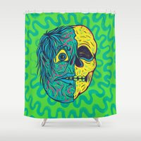 holiday Shower Curtains featuring TODD HOLIDAY by Dip Dripper