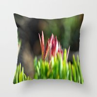plant Throw Pillows featuring plant by  Agostino Lo Coco