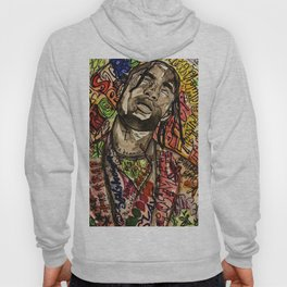La flame,travis,music,hiphop,poster,astro world,tour,wall art,artwork,painting,colourful Hoody