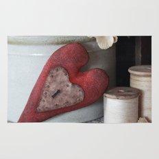 Vintage Heart Vignette Rug
