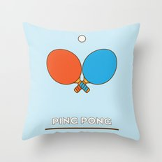 I am the sport! part1 ping pong  Throw Pillow