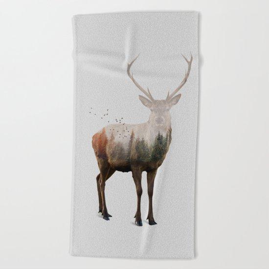Red Deer Beach Towel
