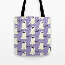 Halloween ghosts | Halloween Bats | Batcave | Purple pillows Tote Bag