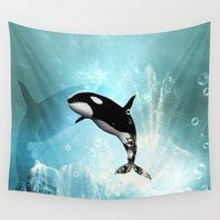 orca Wall Tapestries featuring The orca by nicky2342
