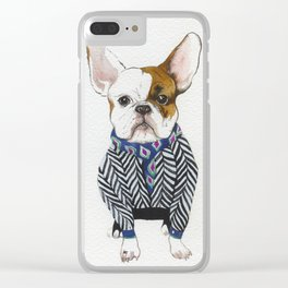 Serge, the french Bulldog Clear iPhone Case