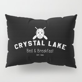 Crystal Lake Bed & Breakfast, Former Camp Crystal, Est.1980, Design for Wall Art, Posters, Tshirts, Men, Women Pillow Sham