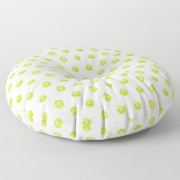 Lime Green Polka Dots Floor Pillow
