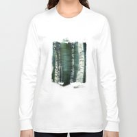 birch Long Sleeve T-shirts featuring birch trees by hannes cmarits (hannes61)