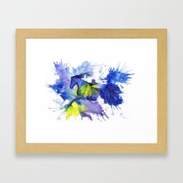 Watercolor and Ink Horse Framed Art Print