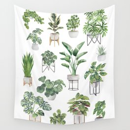 Potted Plants Collection 1 Wall Tapestry