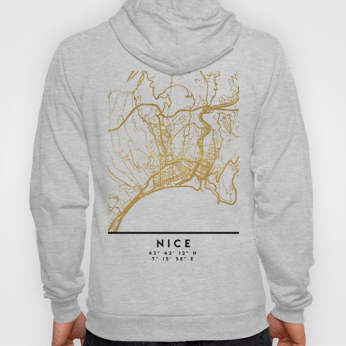NICE FRANCE CITY STREET MAP ART Hoody