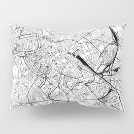 Rome White Map Pillow Sham