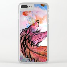 The Enigma of a Fish's Dream Clear iPhone Case