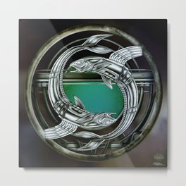 """Astrological Mechanism - Pisces"" Metal Print"