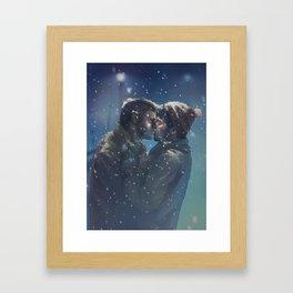 Winter Destiel Framed Art Print
