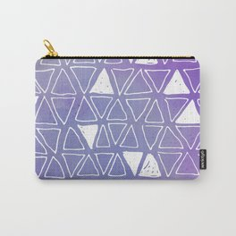 Tribal Watercolours - in Ultra Violet Carry-All Pouch