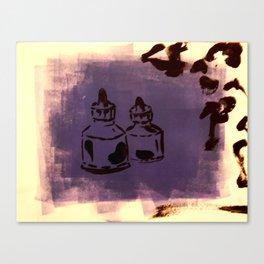 Ink Pots Canvas Print