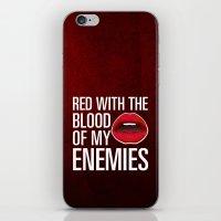 lipstick iPhone & iPod Skins featuring Lipstick by Kris Hawkins