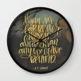 Better Things Ahead Wall Clock