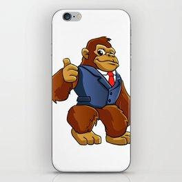 Gorilla in suit. iPhone Skin