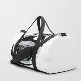 Space Monkey Black & white Duffle Bag