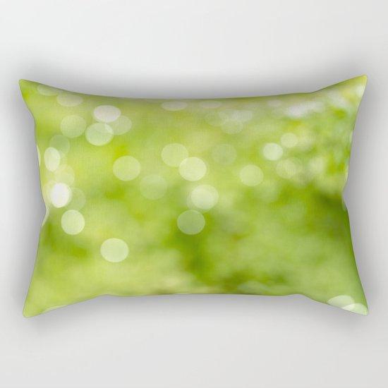 green bokeh Rectangular Pillow