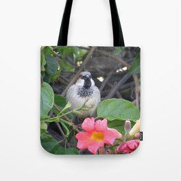 Sparrow in the Vine Tote Bag