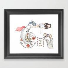Beluga in a Cape Framed Art Print