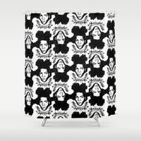 basquiat Shower Curtains featuring Basquiat by CLSNYC
