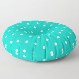 Aqua Small Polka Dots Pattern Floor Pillow