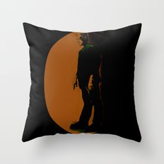 The Monster Is Loose! Throw Pillow