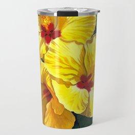 Yellow Hibiscus #18 Travel Mug