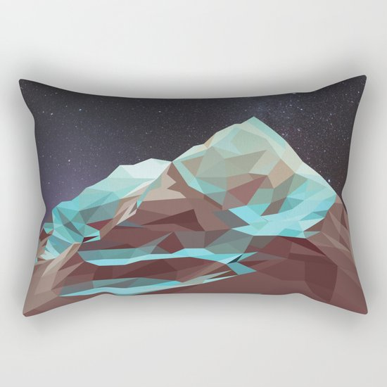 Night Mountains No. 5 Rectangular Pillow