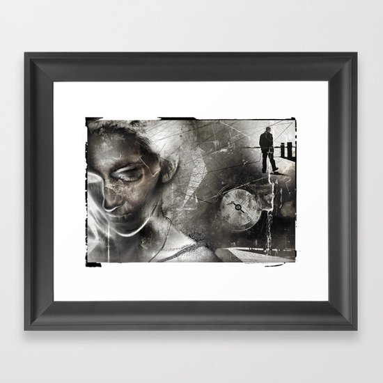 No Direction Framed Art Print